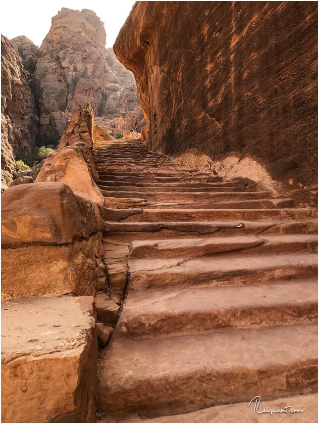 Der untere Teil des Al-Kubtha Trails, oder auch Indiana Jones Trail