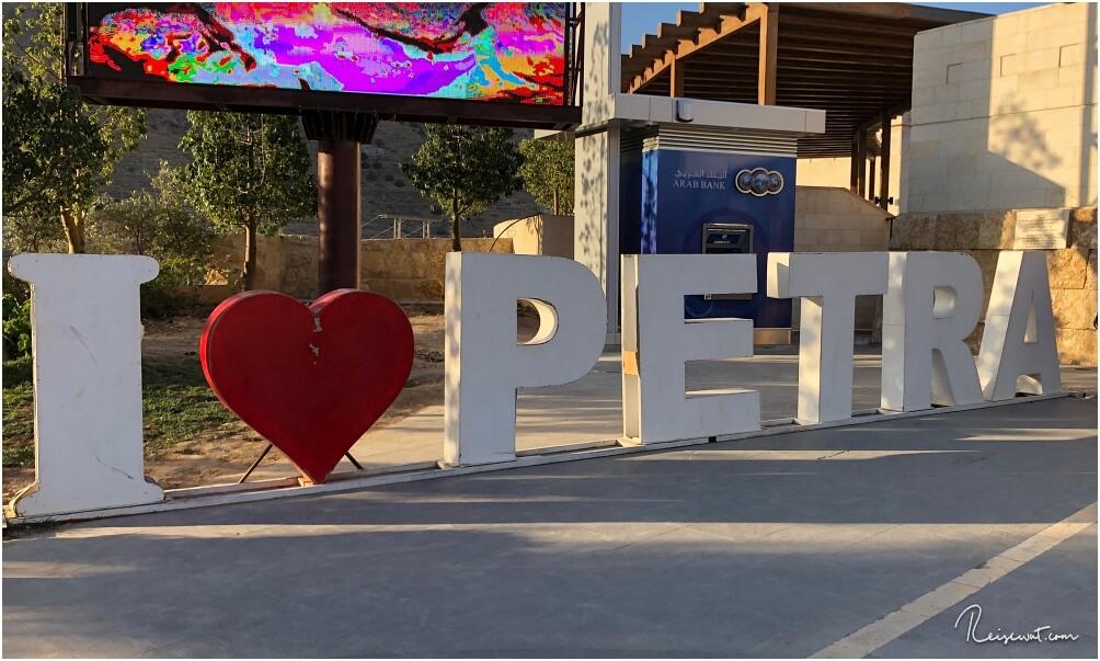 I love Petra ... So heißt die Felsenstadt einen Willkommen