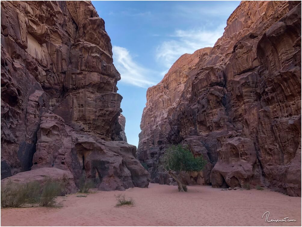 Der Burrah Canyon ... nnur einer von gefühlt endlos vielen Canyons im Rum