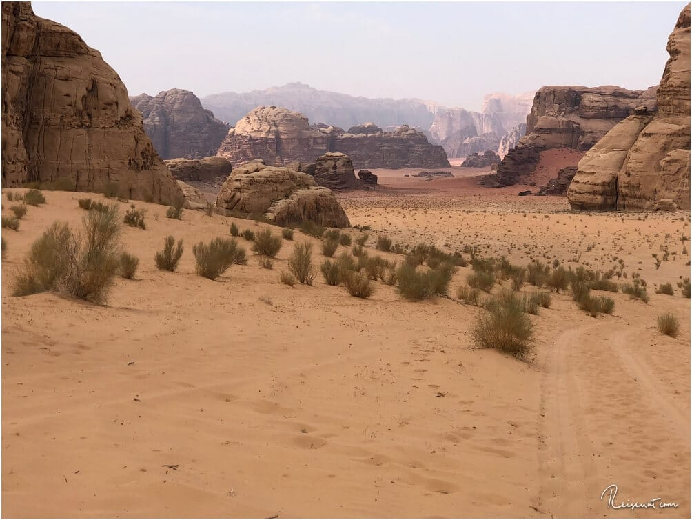 Nur einer von vielen faszinierenden Ausblicken im Wadi Rum