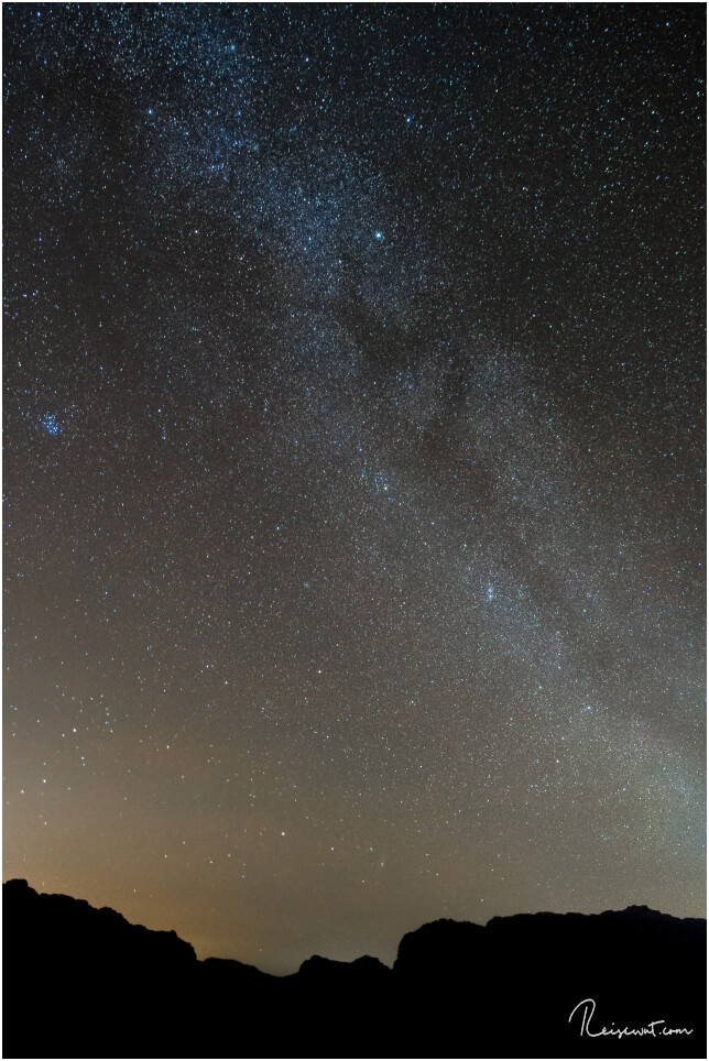 Die Milchstraße kann man in Wadi Rum mit bloßem Auge erkennen