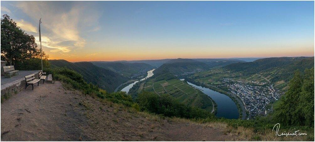 Der obere Aussichtspunkt auf die Flussschleife bei Bremm