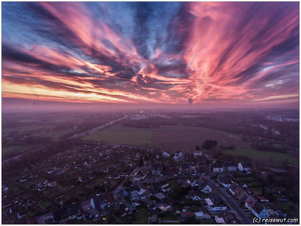 Spontaner Sunset Shot mit der Phantom 4