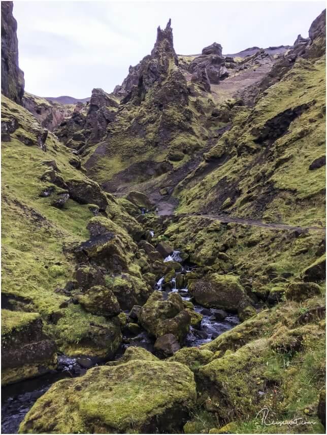 Þakgil mutet teilweise an, als wenn man sich live in einem Herr der Ringe Film befinden würde