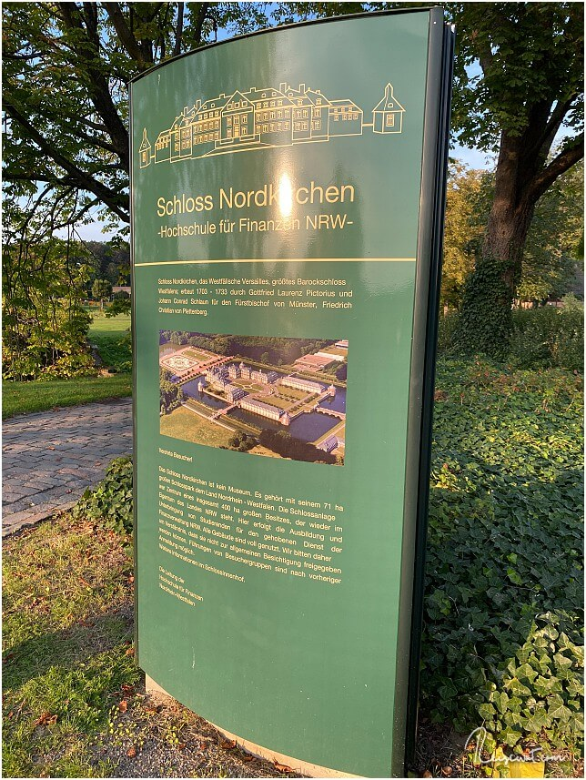 Infotafel auf dem Gelände des Schloss Nordkirchen