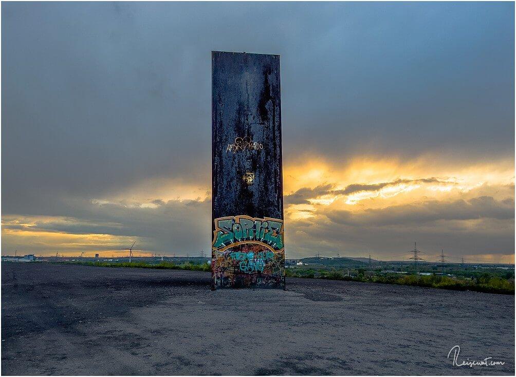 Die gewaltige Bramme an einem stürmischen Tag kurz vor Sonnenuntergang