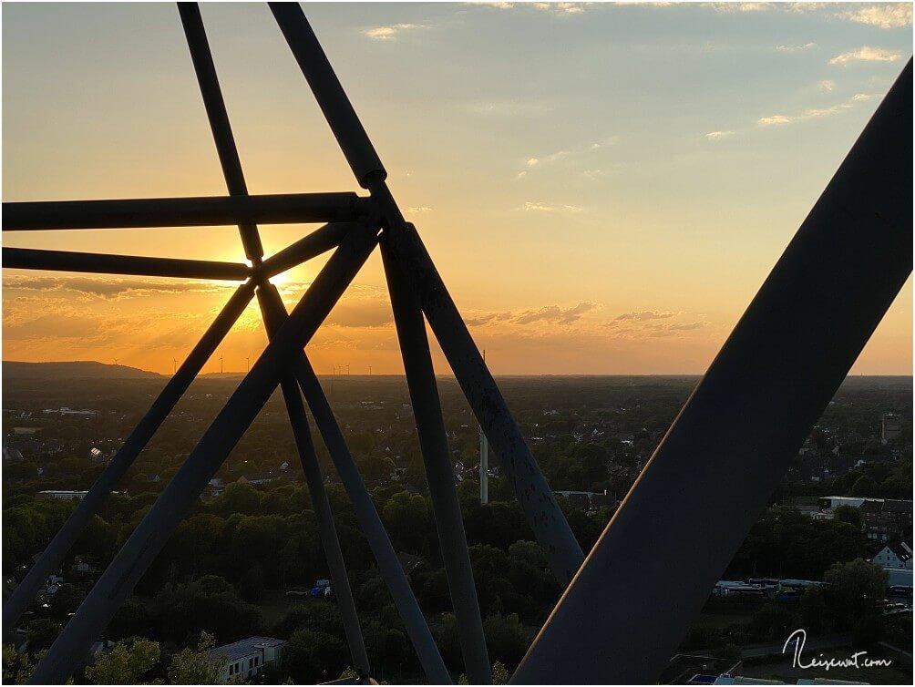 Immer wieder schön ... der Sonnenuntergang über dem Ruhrgebiet