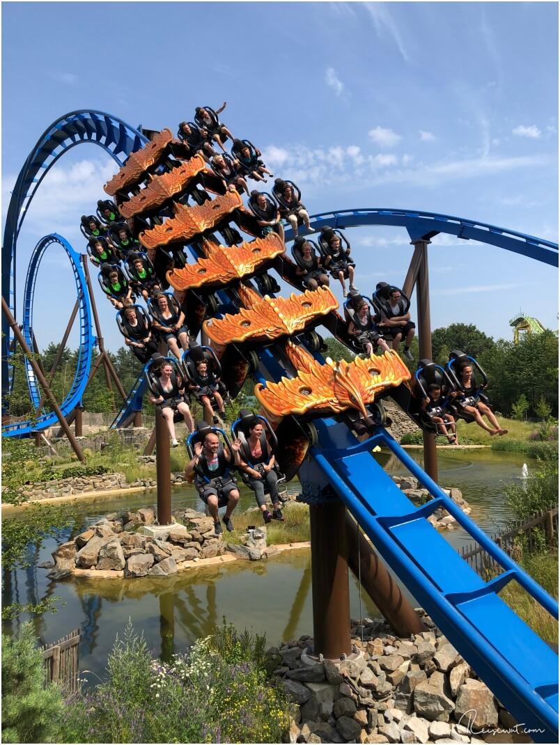 Der Wing CoasterFēnix macht einfach irre Spaß, ganz egal auf welcher Seite man sitzt
