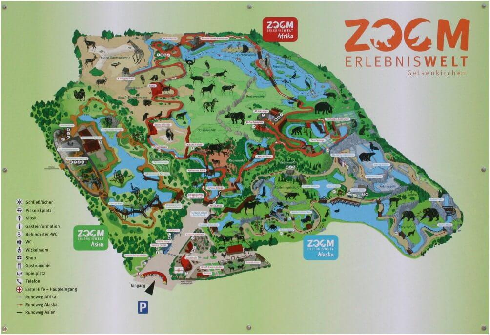 Karte der ZOOM Erlebniswelt. Mausklick für größere Ansicht
