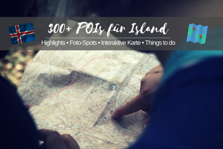 Island Karte Sehenswürdigkeiten POIs