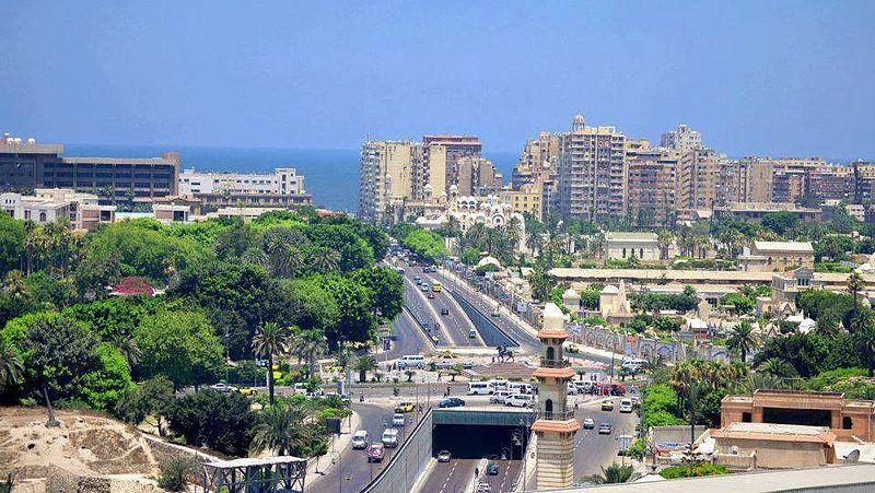 Suez-Kanal-Straße in Alexandria - Quelle Wikipedia