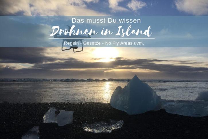 Drohnen in Island im Urlaub