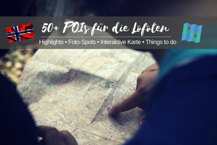 Lofoten Karte sehenswürdigkeiten