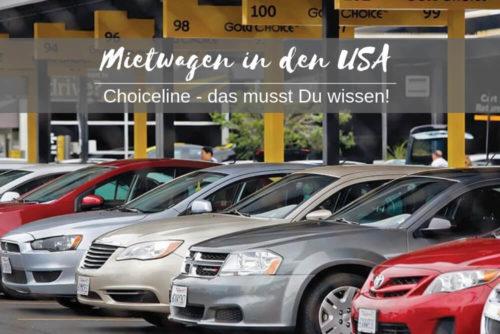 Mietwagen in den USA und Choiceline