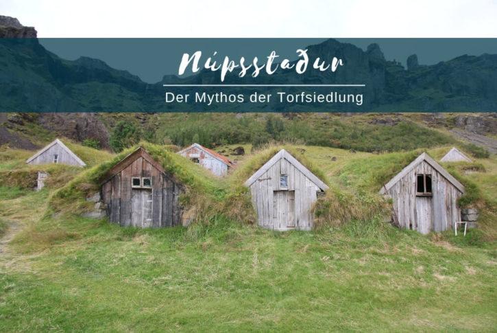 Nupsstadur Island Torfsiedlung