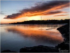 Sonnenuntergang bei Borgarnes