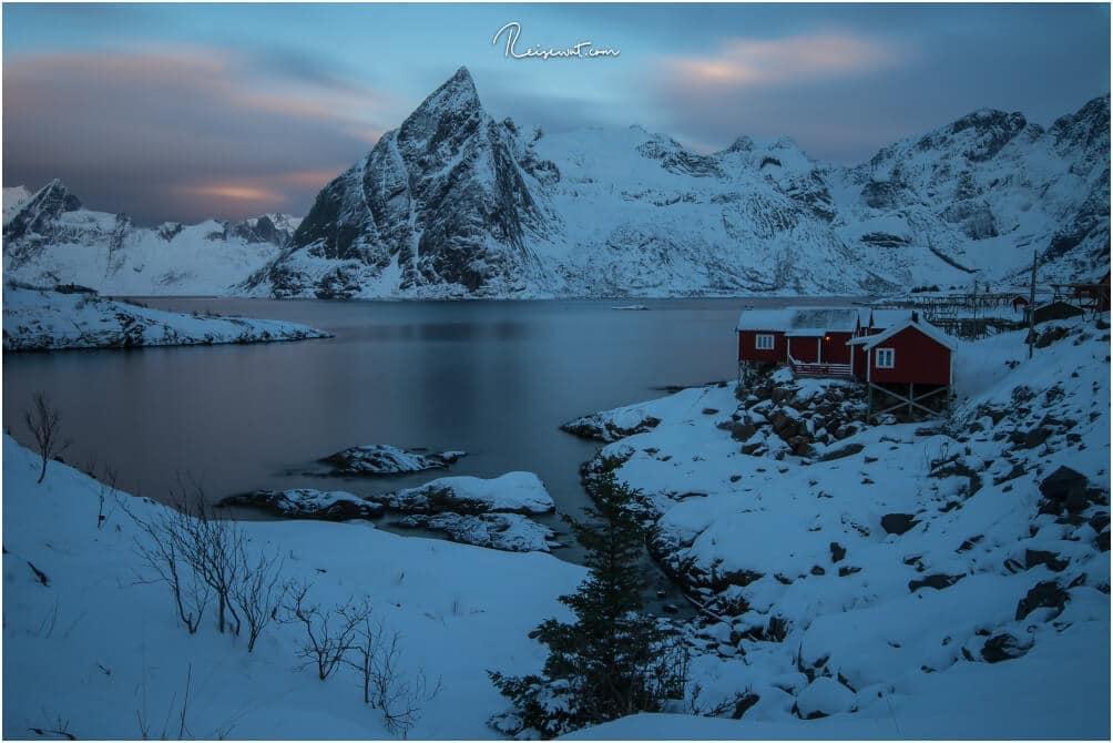 Unsere erste Unterkunft für vier Tage, das Resort Eliassen Rorbuer