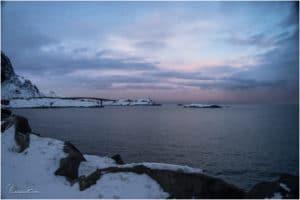 Pastellfarbener Sonnenuntergang bei Sakrisøy