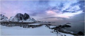 Sonnenuntergang bei Sakrisøy