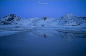Reflektion am Haukland Beach
