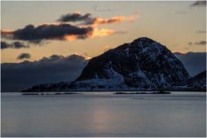 Haukland Beach Sunset