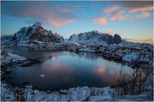 Reine Scenic Point zum Sonnenaufgang