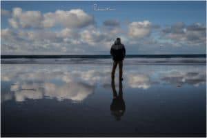 Reflektion am Skagsanden Beach