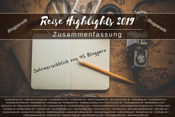 Reise Highlights 2019 Zusammenfassung