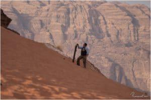Stefan beim Sandboarding
