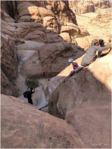 Kraxelei auf der Wanderung zur Burdah Rock Bridge