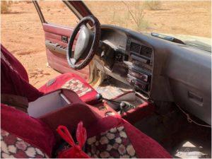 Typisches Innenleben in einem Pick-Up im Wadi Rum