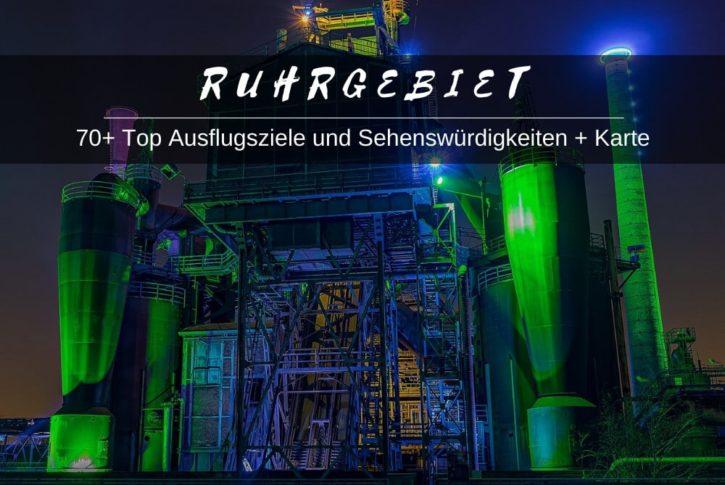 Karte Ruhrgebiet Sehenswuerdigkeiten