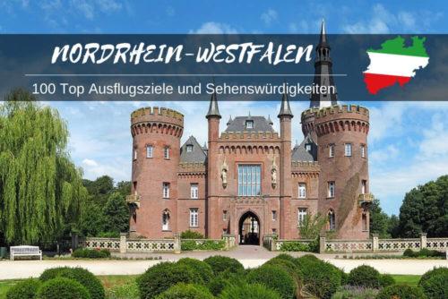Sehenswürdigkeiten in NRW + Karte
