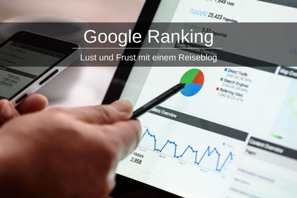 Google Ranking Reiseblog