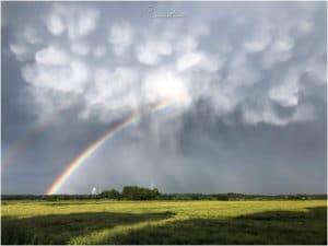 Mammatuswolken nach einem Gewitter (Recklinghausen)