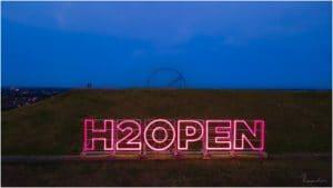 H2Open-Schriftzug Halde Hoheward
