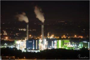 STEAG Heizkraftwerk Herne von der Halde Hoheward aus gesehen