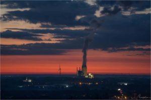 Kraftwerk Datteln bei Sonnenaufgang