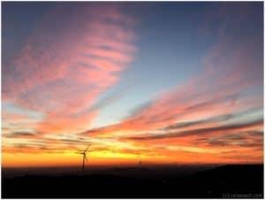 Sonnenuntergang auf der Halde Hoheward