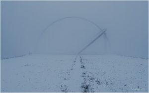 Horizontobservatorium im Schnee