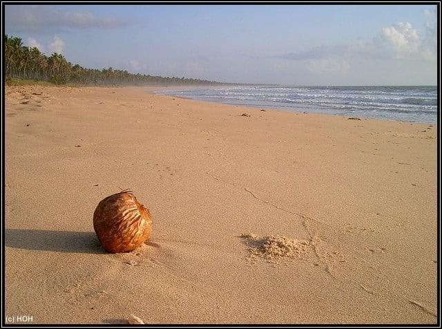 Endlose Weite am Strand von Praia do Forte