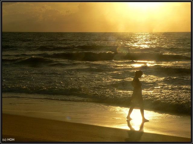 Bahia Sonnenaufgang ... und Frauchen mittendrin