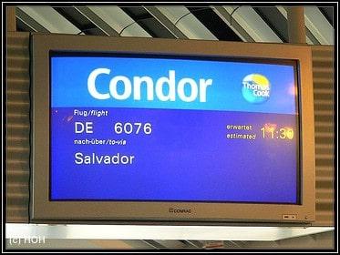 Hinflug nach Salvador de Bahia