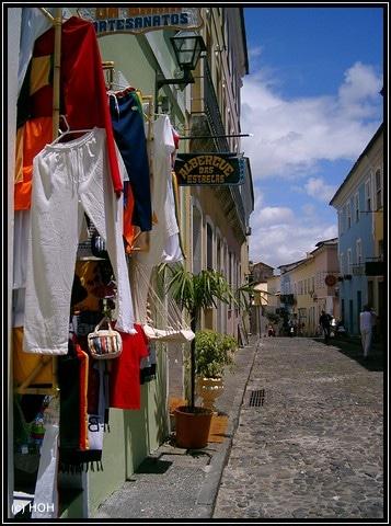 Pelourinho Gasse in Salvador da Bahia