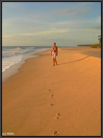 Strandspaziergang am Morgen