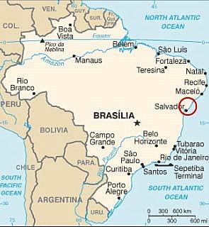 Karte Brasilien