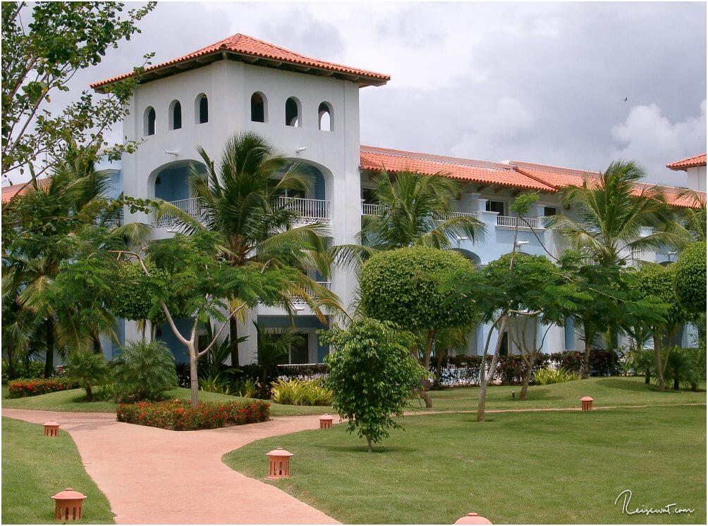 So sehen im Prinzip die einzelnen Gebäude mit den Appartements aus, welche quer verteilt in der Anlage sind