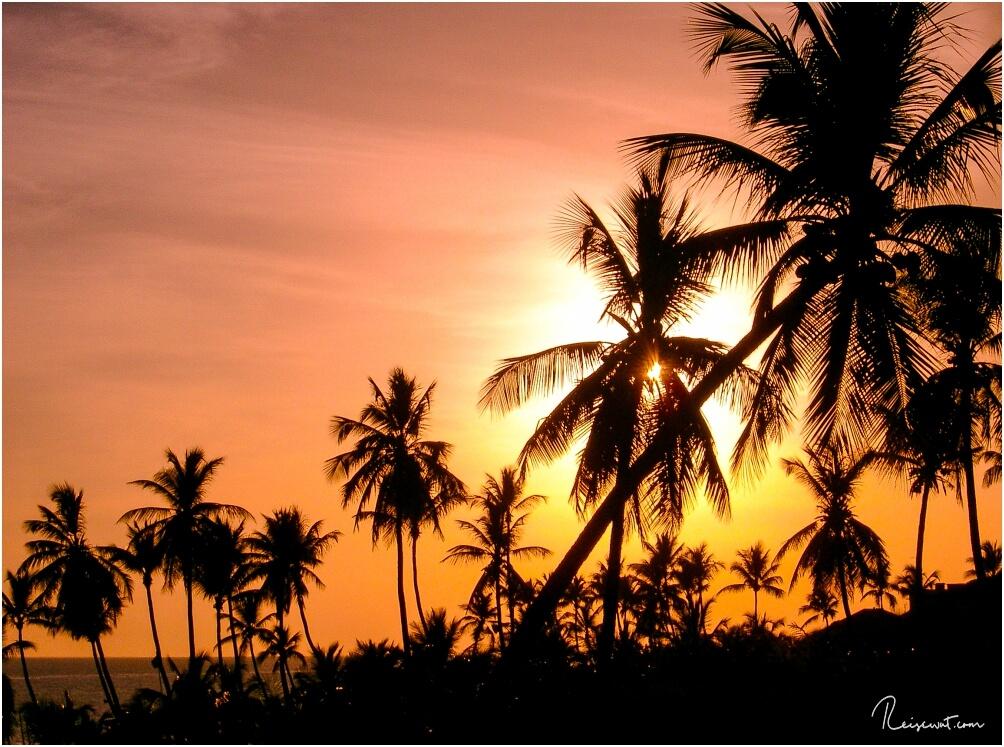 Sonnenuntergänge wie diesen gibt es beinahe jeden Abend