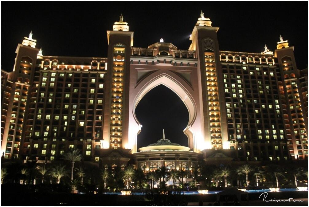 Atlantis Dubai The Plam bei Nacht