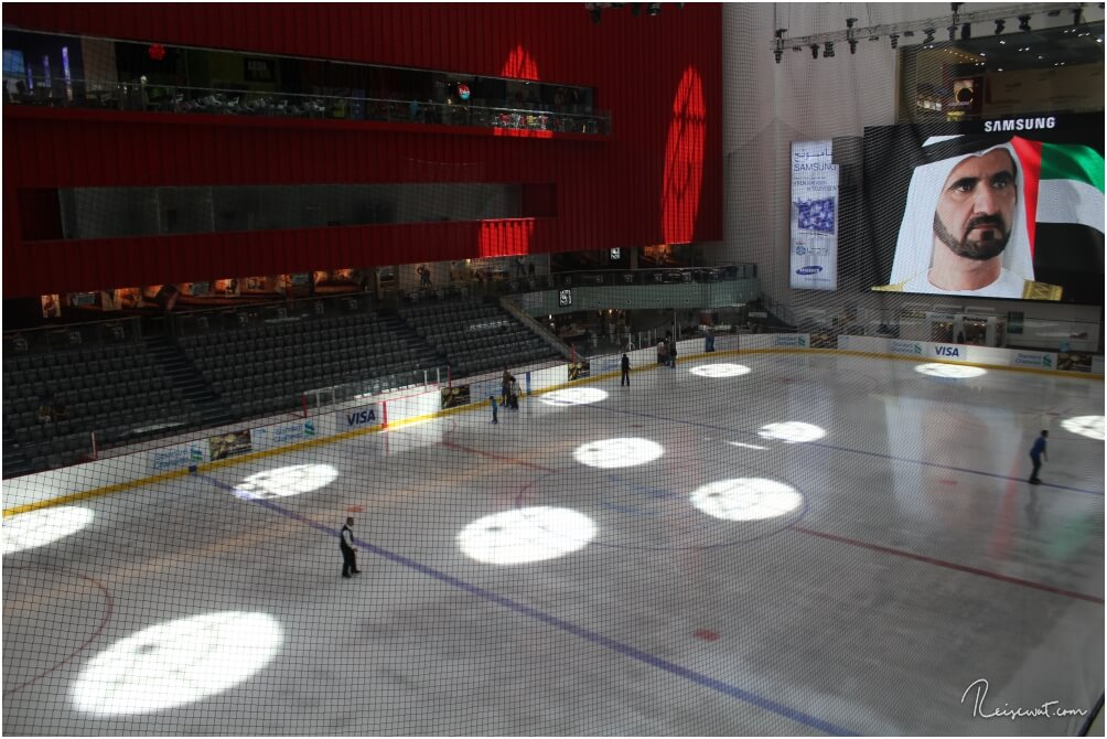 Eislaufbahn mit Olympiamaßen